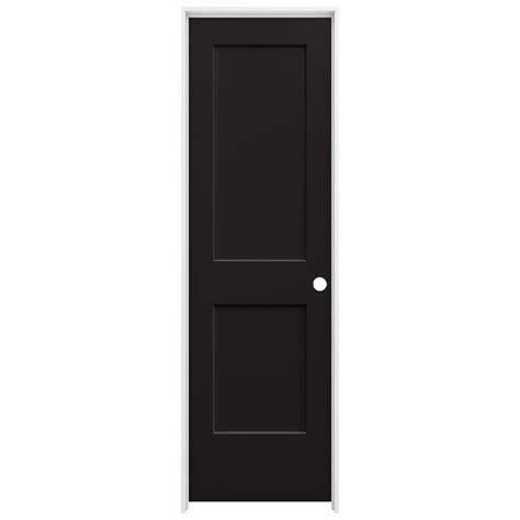jeld wen 24 in x 80 in molded smooth 2 panel arch plank jeld wen 24 in x 80 in smooth 2 panel black solid core
