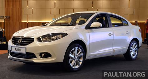 renault malaysia renault fluence 2 0 unveiled in malaysia rm115k image 248965