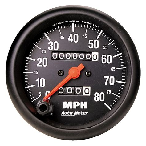 Car Meter Types by Auto Meter 174 2690 Z Series 3 3 8 Quot Speedometer 0 80 Mph