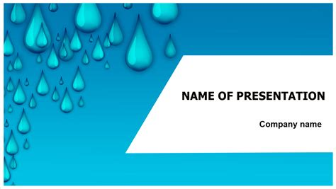 Download Free Water Drops Powerpoint Template For Your Presentation Presentation Template Powerpoint