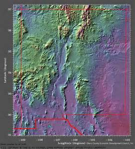New Mexico Elevation Map by New Mexico Elevations Map Images