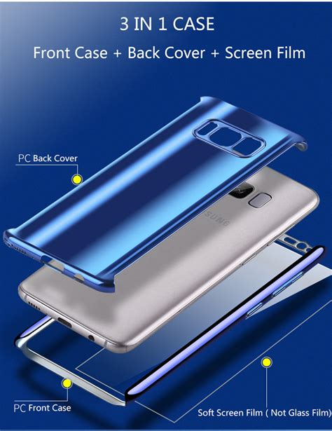 Fs Soft Metalic Samsung Galaxy S8 Plus Back Cover Softshell bakeey samsung s7 s8 s8 plus metallic plating 3in1