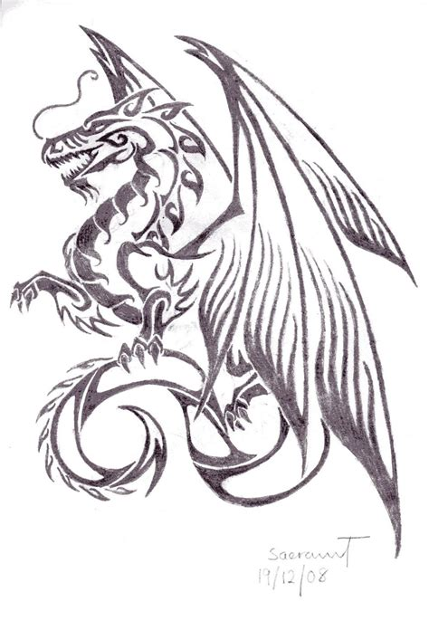dragon tattoo drawing tattoos for