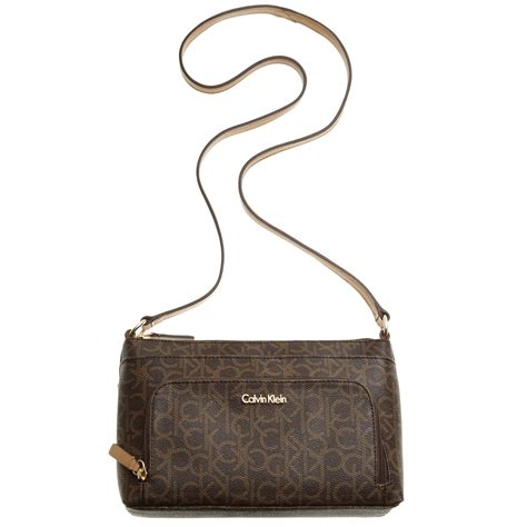 Ck Fendi Jour By Honshop calvin klein monogram crossbody in brown brown khaki