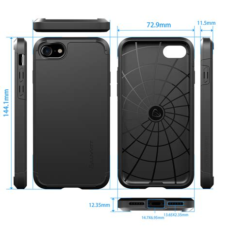 Black Doff Spigen Ultra Protection Limited Edition Iphone 66s Plus luvvitt ultra armor for iphone 7 dual layer back cover ebay