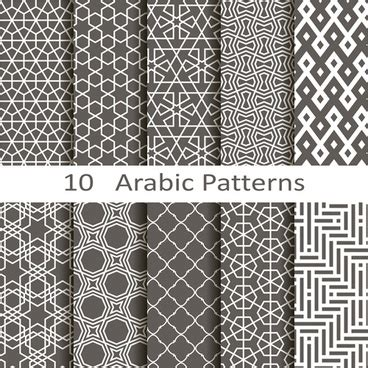 Arabic Pattern Ai | download arabic pattern vector free vector download