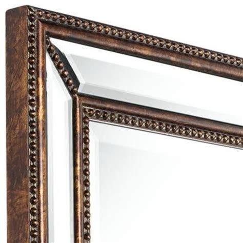 bronze mirrors for bathrooms uttermost palais beaded 30 quot x 40 quot bronze wall mirror