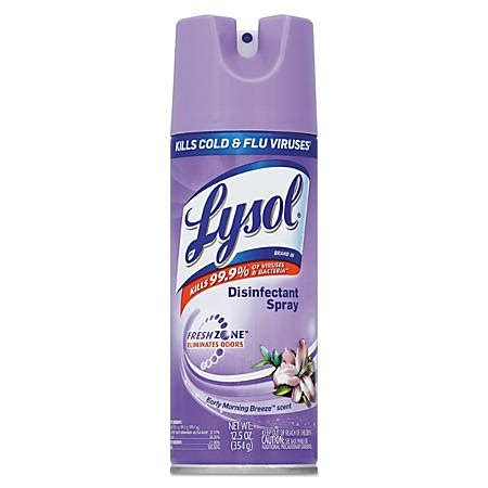 lysol disinfectant spray early morning breeze  oz pack   office depot