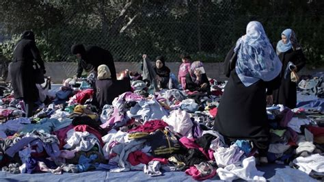 Islamic Cloth Gaza secondhand clothes from israel popular at gaza flea market
