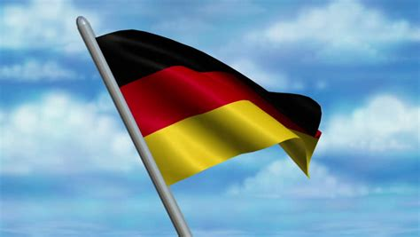 3d düsseldorf german flag animation 4k resolution ultra hd stock