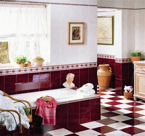 red and white tiles for bathroom red black and white bathrooms burgundy bathroom