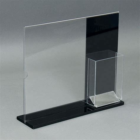 Countertop Sign Holder by Black Acrylic Countertop Sign Holder With Brochure Pocket