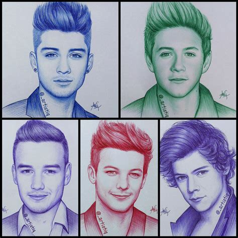 one direction painting one direction by artistiq me on deviantart