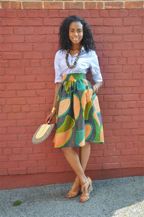 african attire skirt african print skirt the laura midi skirt skirt fashion