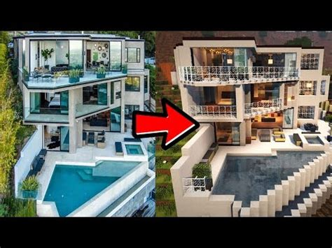captainsparklez house in real life minecraft luxury brick mansion house map w download