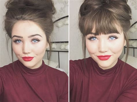 pictures how to make bangs messy bun tutorial w hair extensions also adding clip