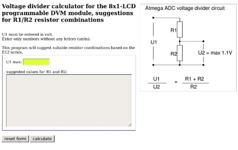 e12 resistor ratio calculator standard resistor divider calculator 28 images voltage divider calculator e12 spegel 28