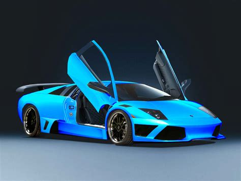 Blauer Lamborghini by Black And Blue Lamborghini 35 Cool Wallpaper