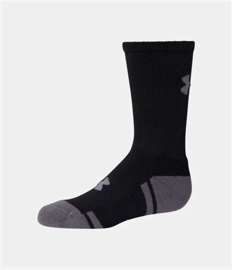 armour resistor crew socks boys ua resistor iii crew socks 6 pack armour us