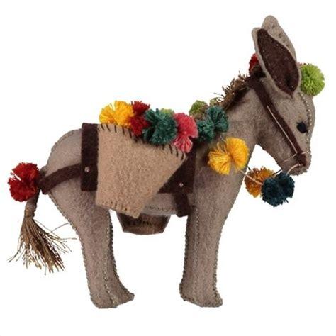 pattern for felt donkey pompom donkey hand stitching patterns diy kits