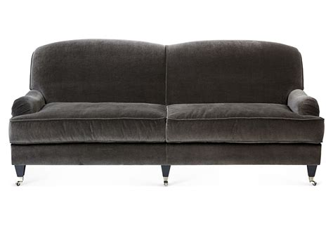 charcoal velvet sofa velvet sofa charcoal sofas loveseats from one