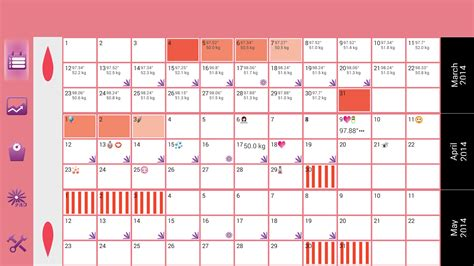 Menstrual Cycle Calendar Template