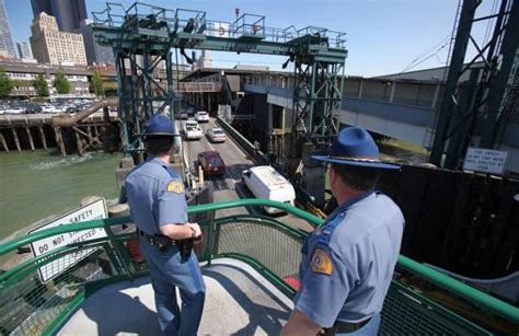 Homeland Security Background Check Homeland Security Official Checks Ferry Security In Seattle Seattle Traffic And