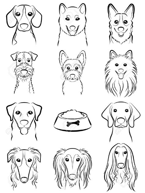 line dogs line drawing royalty free cliparts vectors and stock illustration pic