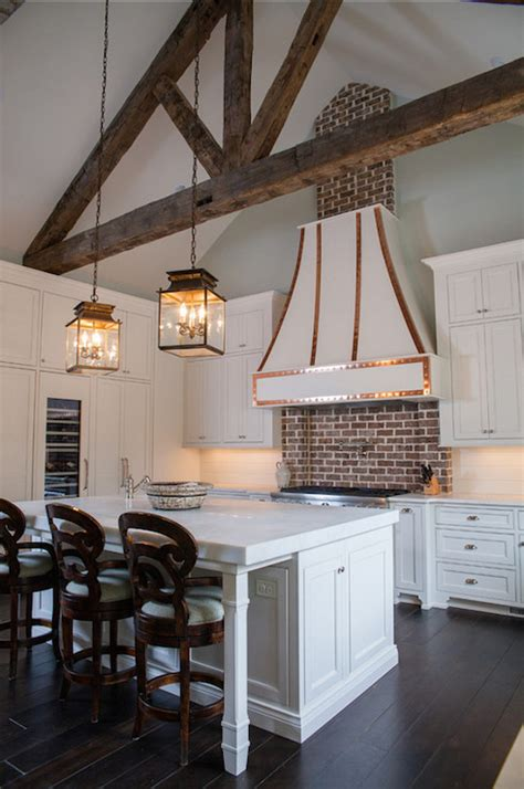 Kitchen Island With Cooktop And Seating Kitchen With Truss Ceiling Transitional Kitchen
