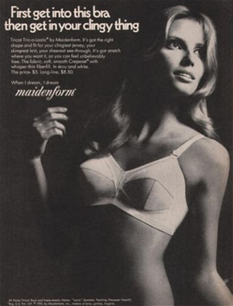vintage bra commercials 1970 maidenform bra clingy thing vintage ad