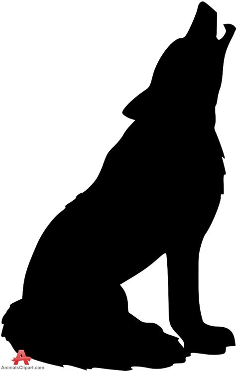 coyote clipart howling coyote silhouette clipart best