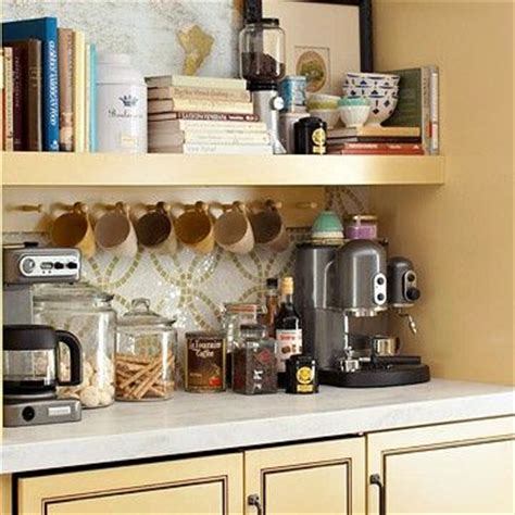 coffee coffee nook and organized kitchen on