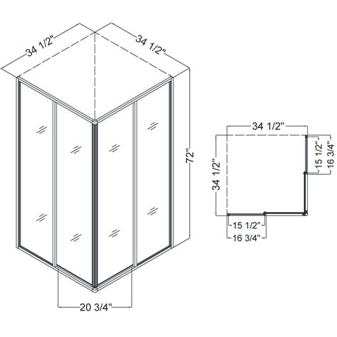 Bathroom Stall Partitions Dreamline Dl 6150 01 Shower Enclosure 36 Quot By 36