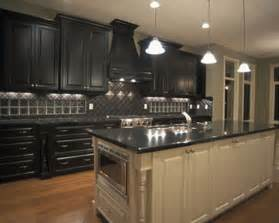 Dark Cabinet Kitchen by Kitchen Decorating Ideas Dark Cabinets The Wall The