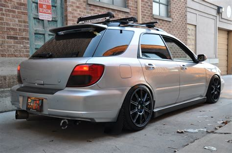 lowered subaru impreza wagon autoart impreza sportwagon lowering and roof rack question