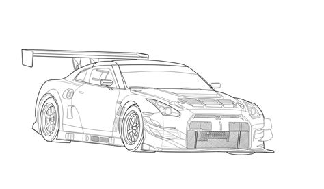 nissan skyline drawing outline bertasvo gustavo bertinato deviantart