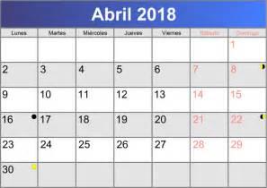Calendario 2018 Abril Calendario Abril 2018 Imprimible Pdf Abc Calendario Es