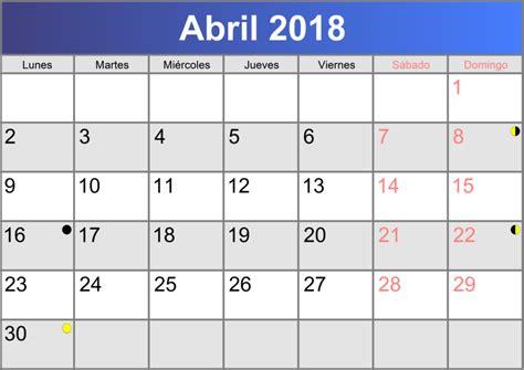 Calendario Abril 2018 Calendario Abril 2018 Imprimible Pdf Abc Calendario Es