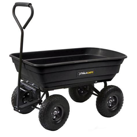 gorilla carts 600 lb poly garden dump cart gor200b the