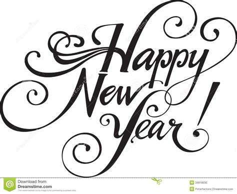 white new year new year clipart black and white clipartsgram