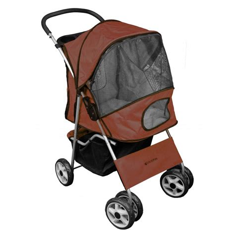 Stroller Cocolate deluxe 4 wheel pet stroller chocolate brown from