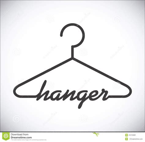 photo hanger hanger design stock vector image 41519081