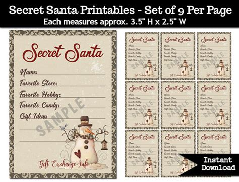 6 best images of free printable secret santa gift tags secret santa gift exchange printable pdf christmas party