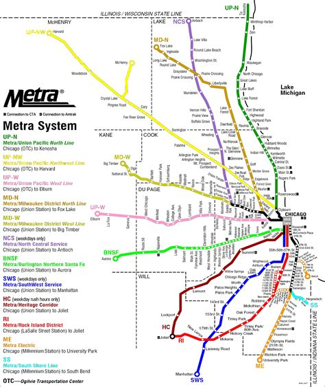 chicago metra map metra chicago map
