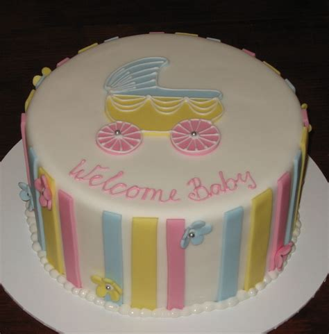 let them eat cake simple baby shower cake