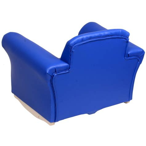royal blue leather sofa faux leather pu kids childrens seat armchair chair with