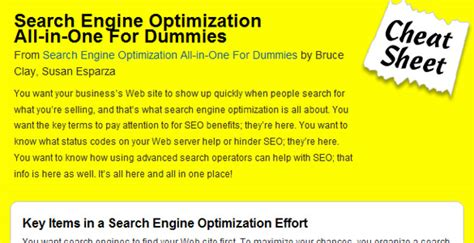 Seo For Dummies by Mega Collection Of Cheatsheets For Designers Developers