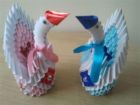 tutorial de cisne en origami 3d cisnes eternos namorados origami 3d artesd 218 papel elo7
