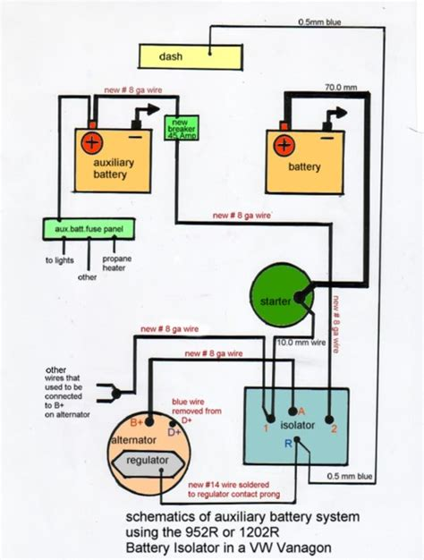 car battery isolator wiring diagram get free image