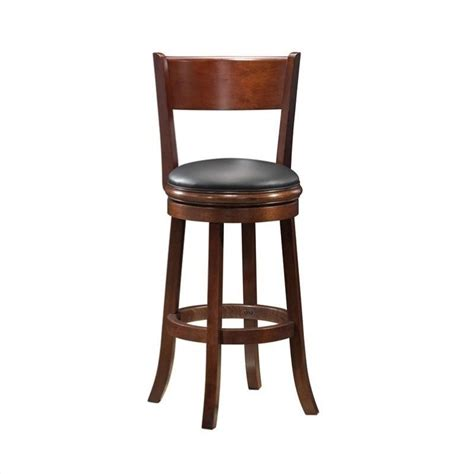 24 Bar Stool With Back Boraam Palmetto 24 Quot Swivel Bar Stool With Back Without Arms In Walnut Ebay